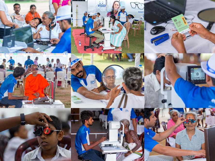Vision Care successfully conducts eye testing events of Nethralokana Sathkara