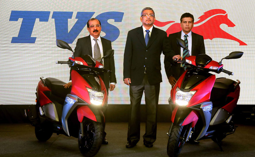 TVS Motor Company launches its stylish sporty SMART scooter TVS NTORQ 125 in Sri Lanka