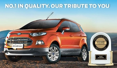 Ford EcoSport Wins Second Consecutive J.D. Power Award in India