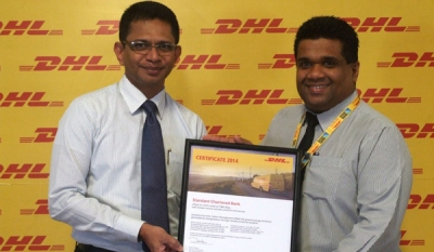 DHL Express awards Standard Chartered with a GOGREEN Certificate in Sri Lanka