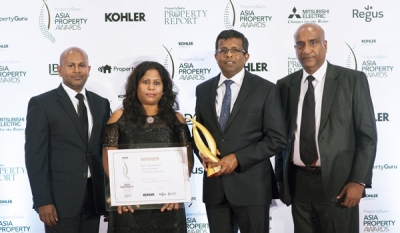 Home Lands Skyline clinches the Best Housing Development (Sri Lanka) Award at the Asia Property Award 2017