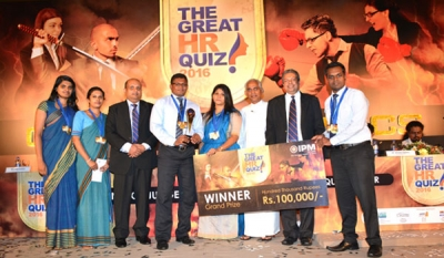 IPM Great HR Quiz 2016 : SDB Wins Champion's Trophy