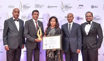 Ariyana Resort Apartments by Home Lands Skyline Honoured with the Award for The Best Housing Development in Sri Lanka 2018