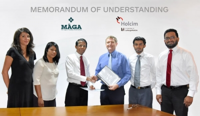 Holcim Lanka and Maga to work towards sustainability of the construction industry