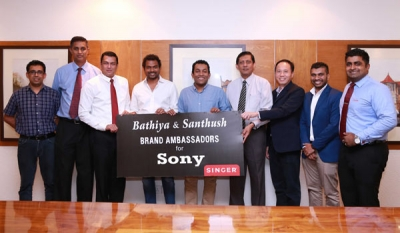 Singer Sri Lanka and Sony appoints Bathiya and Santhush (BNS) as brand ambassadors for Sony audio products in Sri Lanka