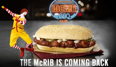 McRib Will Return To McDonald's For The New Year