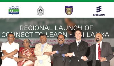 "Empowering Girls in Sri Lanka: Ericsson, Mobitel, OUSL and COL unveils ""Connect to Learn"" initiative in Kandy"