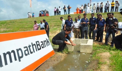 Sampath Bank renovates Dematawa Tank at Paduvasnuwara