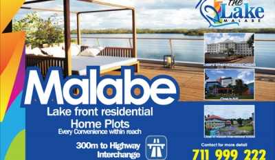 Living Location at the Lake Malabe from Home Lands ( Video )