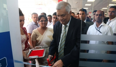 New Sathosa Mega Outlet in Welisara equipped with a COMBANK ATM