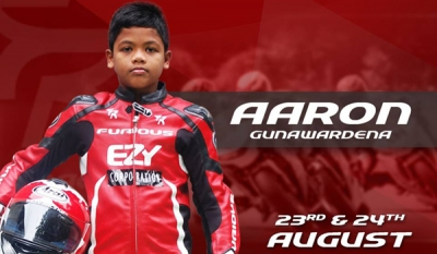 11 year Aaron Gunawardena to ride for EZY Racing in Asia Cup