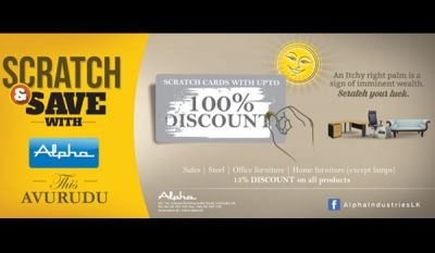 "Alpha to add colour to the festival season with ""Scratch & Save"" Avurudu promotion"