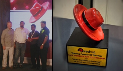 PACE Institute, Pannipitiya wins RedHat overseas training partner of the year award consecutively