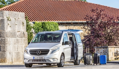 The First Mercedes-Benz Vito Luxury passenger van delivered to Malkey rent-a-car
