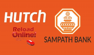 HUTCH ties up with Sampath Bank to provide online reloads