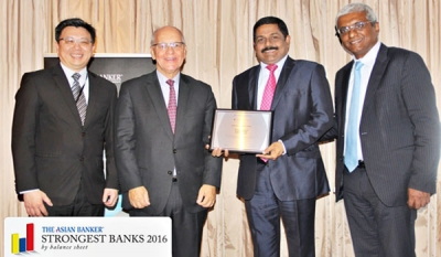 Commercial Bank receives award as 'Strongest Bank' in Sri Lanka from Asian Banker