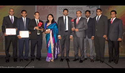 HNB Grameen recognized as one of Sri Lanka's 'Greatest Places to Work' wins three accolades for the first time at Great Place to Work Awards 2017