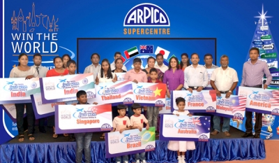 Arpico presents 'Win the World' holidays to 25customer families