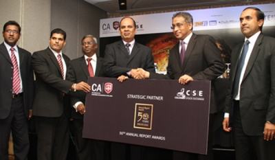 Mega boost to CA Sri Lanka's 50th Annual Report Awards as Colombo Stock Exchange comes onboard as strategic partner