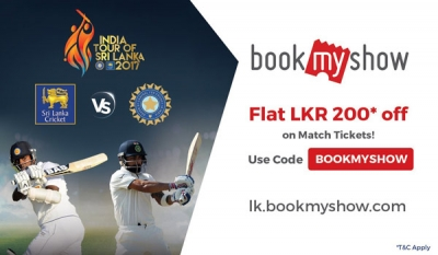 Tickets for Sri Lanka-India cricket series available online on BookMyShow
