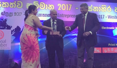 Quebee Den's Rohanthi recognised as Western Province's 'Best Entrepreneur - Industrial and Manufacturing Sector'