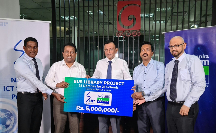 SLT Mobitel Partners Manusath Derana to Transform Decommissioned Buses into Libraries