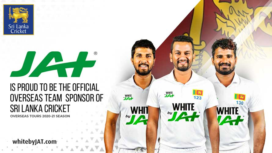 JAT Holdings conferred the title Official Overseas Team Sponsor of Sri Lanka Cricket during the 2020 2021 cricket season by ITW Consulting who was awarded custodianship of the said title by Sri Lanka Cricket