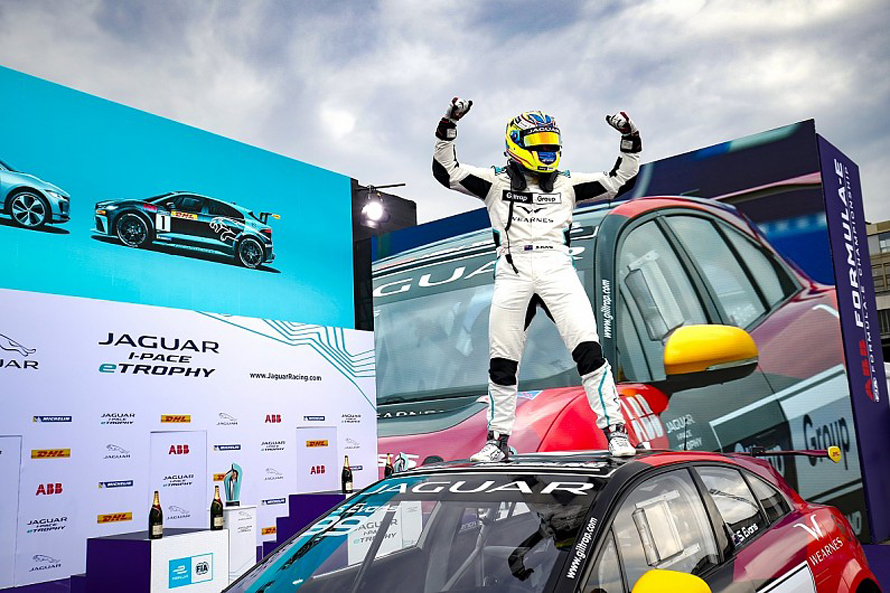 Simon Evans is the Jaguar I Pace eTrophy Champion