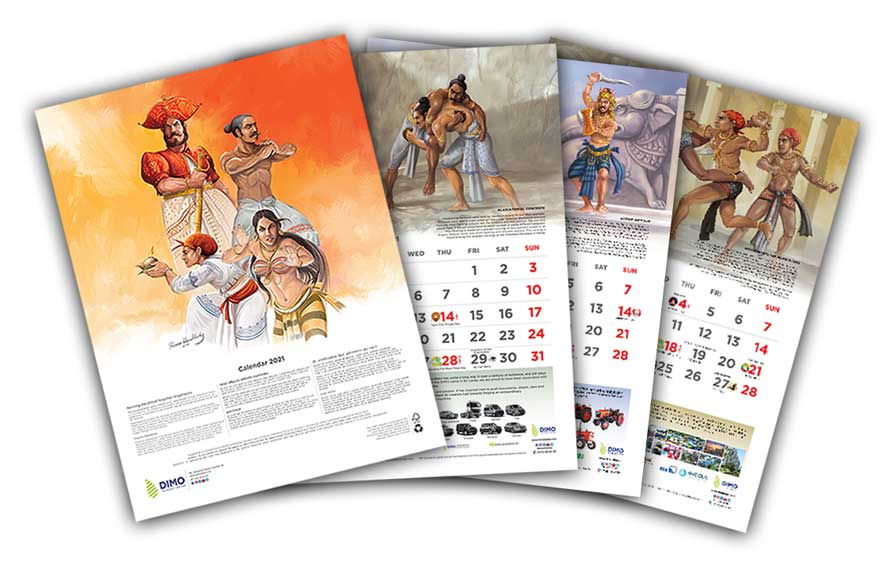 DIMO features legendary art of Angampora in unique 2021 calendar