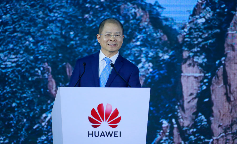 businesscafe Eric Xu Huawei Rotating Chairman delivers a keynote speech at the 18th Global Analyst Summit