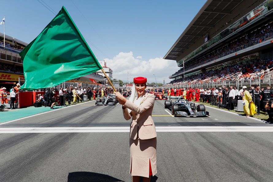 Emirates A380 takes pole position at Spanish Grand Prix image 1