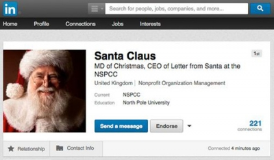 Santa Claus joins LinkedIn to recruit copywriters for this year's NSPCC 'Letter from Santa' campaign