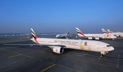 Emirates celebrates the Year of Zayed inflight and in the air