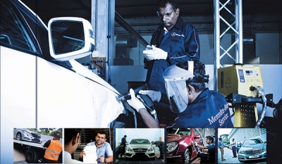 DIMO 800 - The Mercedes-Benz Centre of Excellence' Recognised as the 'Only Daimler Certified General Distributor' Workshop in South East Asia for Body & Paint Repairs