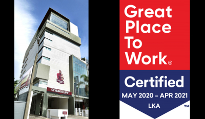 Ceylinco Life Great Place to Work Certified TM in 2020