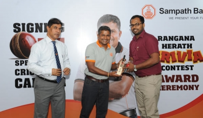 Sampath Bank Engages and Rewards Rangana Herath's Fans
