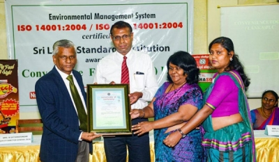 Convenience Foods (Lanka) receives ISO certification for Environmental Management