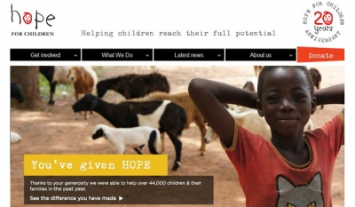 Hope For Children unveils website to celebrate 20 years