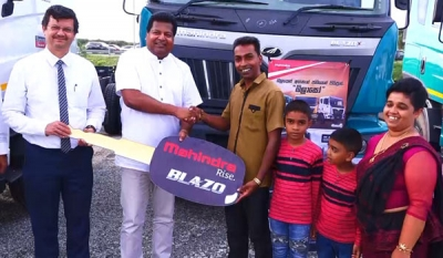 Ideal Motors hands over latest model Mahindra Blazo trucks to new owners