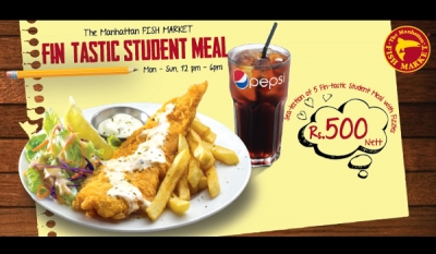 'Fin-tastic' Student Meal with Fizzies Offer at The Manhattan FISH MARKET