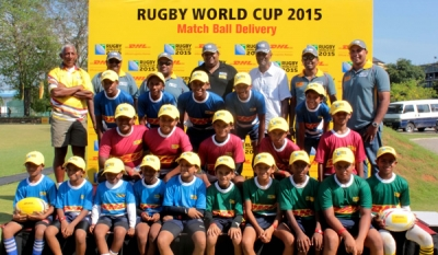 DHL hosts Rugby Carnival for children in 'RWC Match Ball Delivery' Campaign