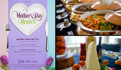 Mothers Dine for Free this Sunday at the Galle Face Hotel