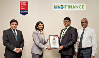 HNB FINANCE certified a 'Great Place to Work' for fourth successive year