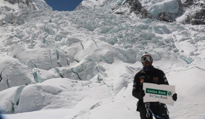 Amãna Bank sponsored mountaineer Elmo Francis breaks 4 SL records