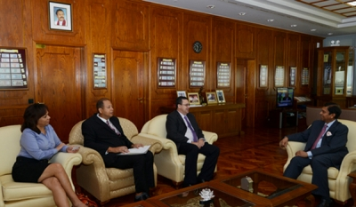 Governor's Meeting with Hon Finance Minister of Seychelles