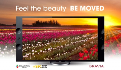 The new range of Sony 4K and Ultra HD TVs to provide a visual experience with an extraordinary depth and clarity