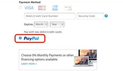 Apple Online Store now supports PayPal