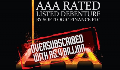 Softlogic Finance AAA Debenture draws Rs 4 Billion
