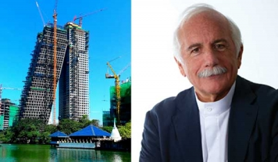 Altair architect Moshe Safdie in Sri Lanka this month