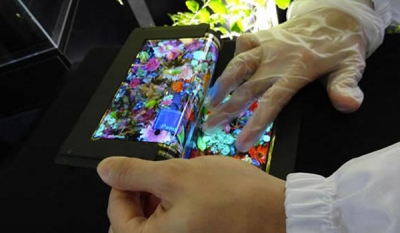 Semiconductor Energy Laboratory outs a 3-fold 8.7-inch OLED touch display